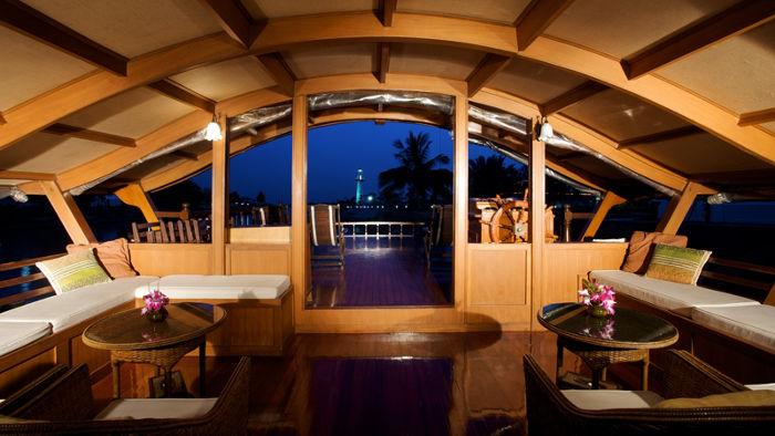 Bangkok to Ayutthaya river cruise on Mekhala converted rice barge