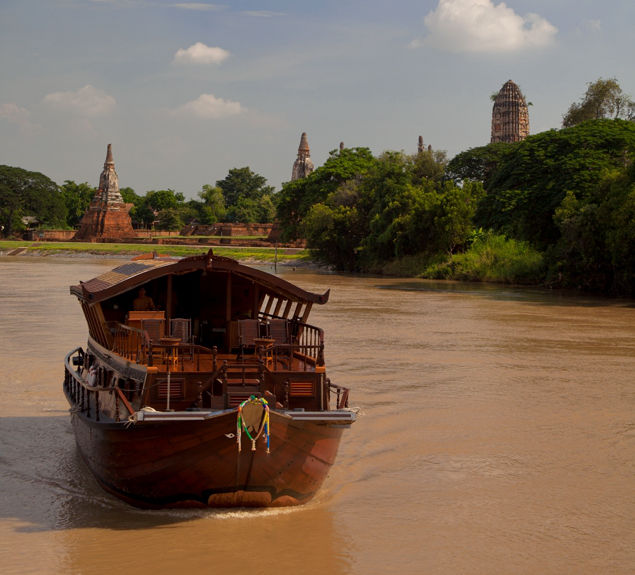 Bangkok to Ayutthaya river cruise on Mekhala rice barge